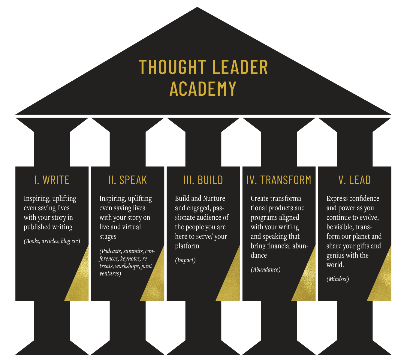 thought leader academy pillars
